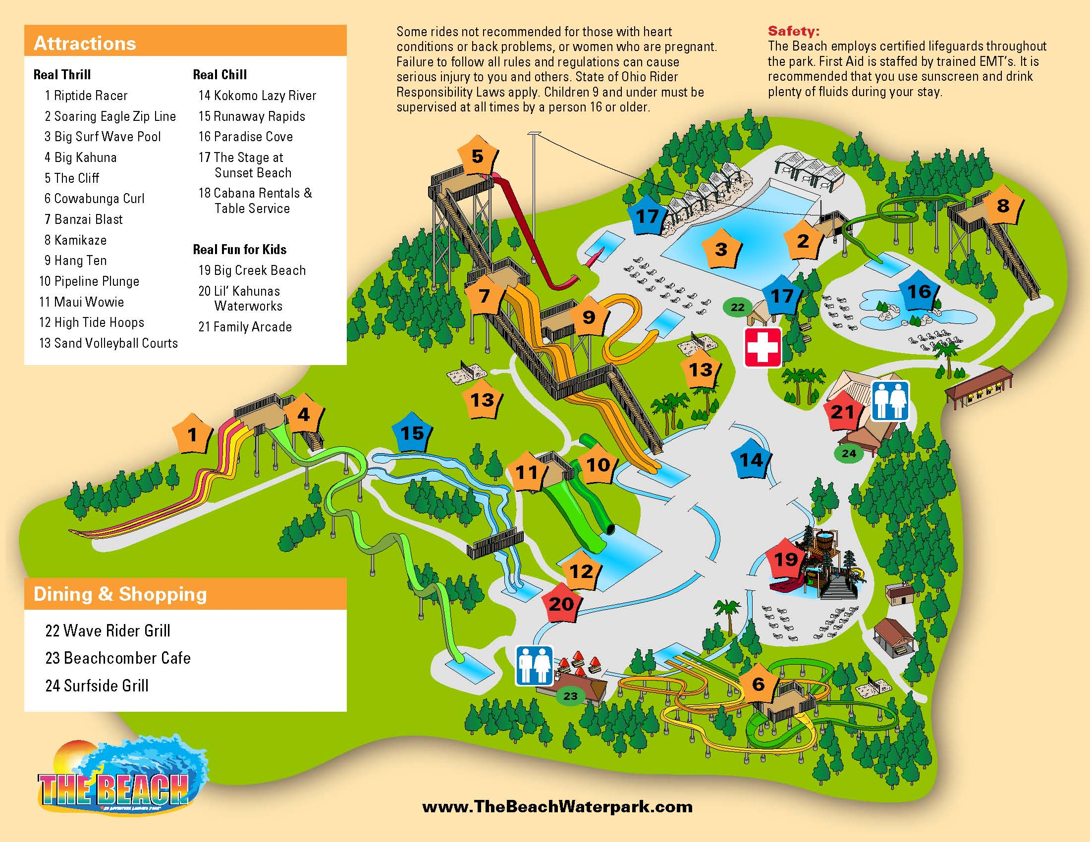 Park Info The Beach Waterpark Mason